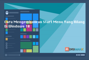 Windows 10 Start Menu hilang